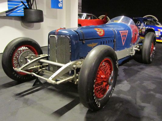 Hudson Straight-Eight Indianapolis uit 1933. (Louwman Museum in Den Haag)