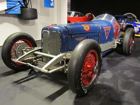 Hudson Straight-Eight Indianapolis uit 1933. (Louwman Museum in Den Haag)