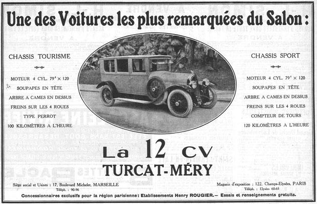 Een Franse advertentie van Turcat-Méry uit 1924.