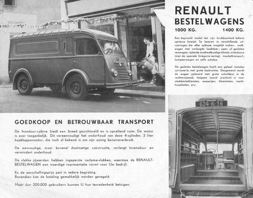 Folder Renault bestelwagens.