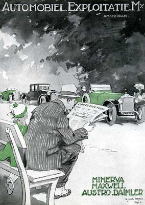 Reklame voor o.a. Austro-Daimler uit 1921.