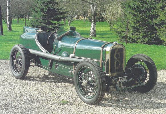 Een Sunbeam Grand Prix 2 liter uit 1922.