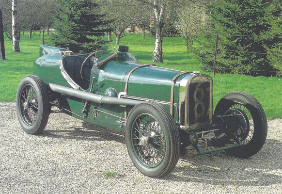 Sunbeam Grand Prix 2 liter uit 1922.