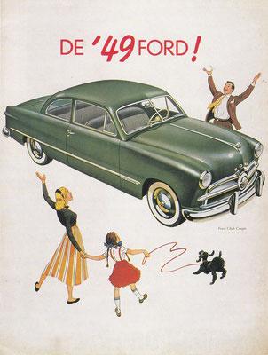 Reclame van Ford uit 1949.