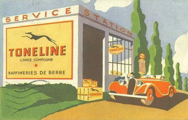Toneline service station.