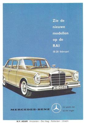 Nederlandse advertentie voor Mercedes-Benz uit 1960.