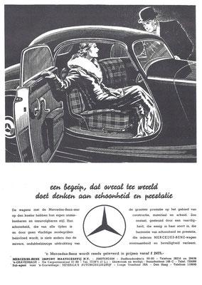 Nederlandse advertentie voor Mercedes-Benz uit 1935.