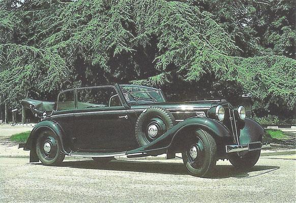 Audi Front 225 Cabriolet met een koetswerk van Gläser (1935-1938).