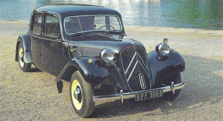 Citroën Traction Avant uit 1953.