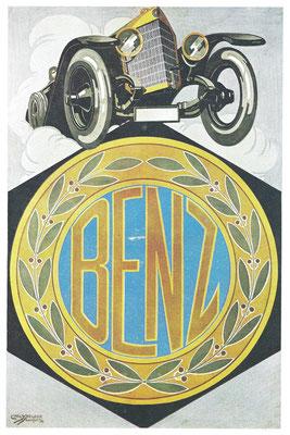 Affiche van Benz uit 1917.