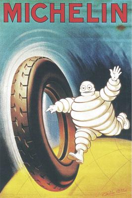 Een affiche voor Michelin, ontworpen door A. Philibert in 1925.