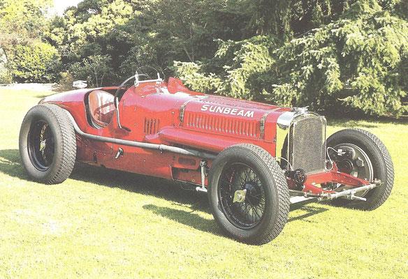 Een Sunbeam Tiger V12 , met deze auto werd in 1926 het wereldsnelheidsrecord gevestigd.
