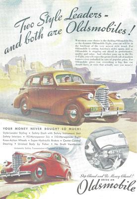 Advertentie Oldsmobile uit 1937.