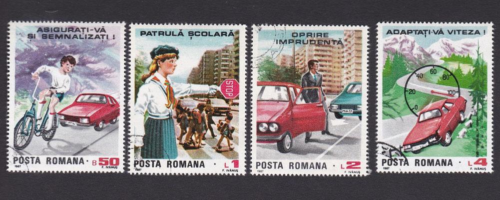 Postzegels Roemenië uit 1987.