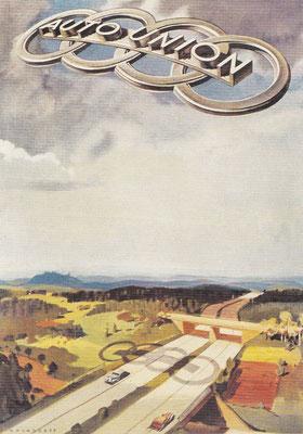 Beroemde affiche van Victor Mundorff uit 1937 voor Auto Union.