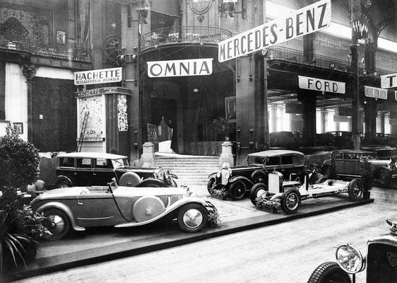 Paris Motor Show 1928, Mercedes Benz model S met een carrosserie van Saoutchik.