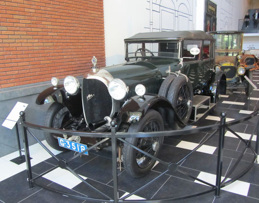 Spyker C4 All-Weather Coupé, 1922. De C4 is ontworpen door luchtvaarttechnicus Frits Koolhoven. (Louwman Museum in Den Haag)