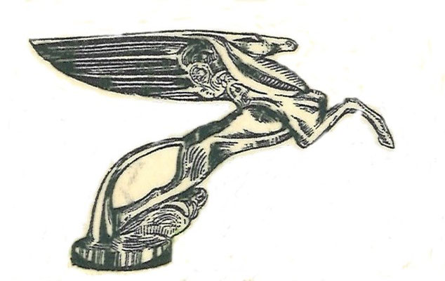 Pegasus, het gevleugelde paard, afgebeeld op het aandeel.