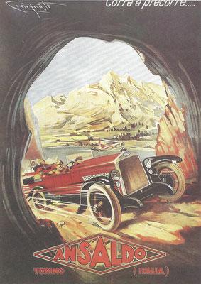 Reclame Ansaldo uit 1924.