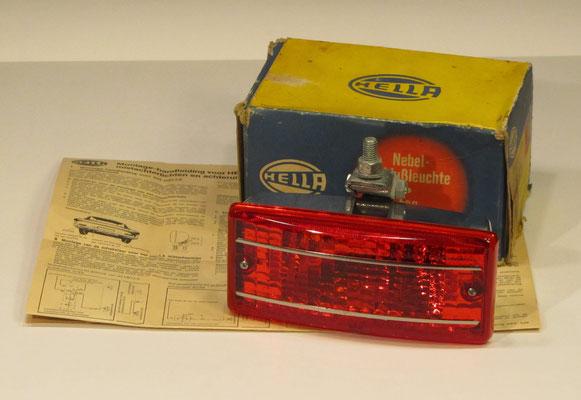 Rechthoekig mist-achterlicht, Hella, NES 400 uit 1973.