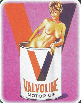 Valvoline reklame, ontworpen door Vargas.