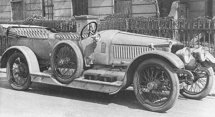 Brasier 24 pk zescilinder uit 1914.