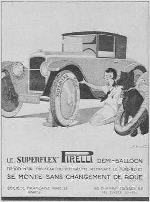 Franse advertentie voor Pirelli.