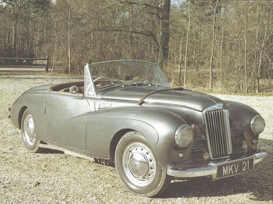 Een Sunbeam Alpine uit 1953.