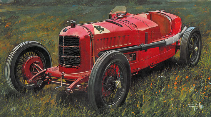 Alfa Romeo P2 uit 1924.