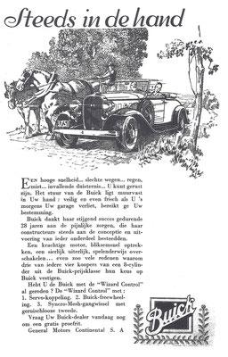 Nederlandse advertentie Buick uit 1932.