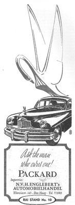 Nederlandse advertentie voor Packard.