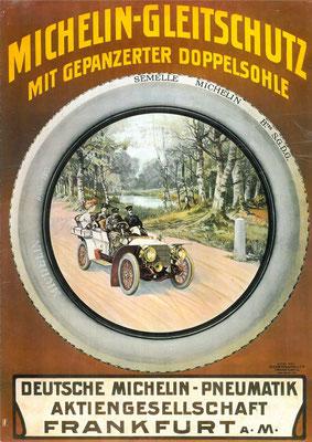 Een Duitse affiche van Michelin.