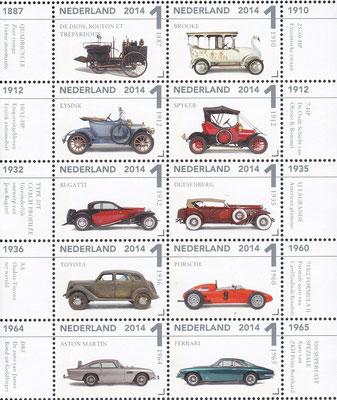 Postzegels Nederland uit 2014. Klassiekers uit het Louwman Museum.