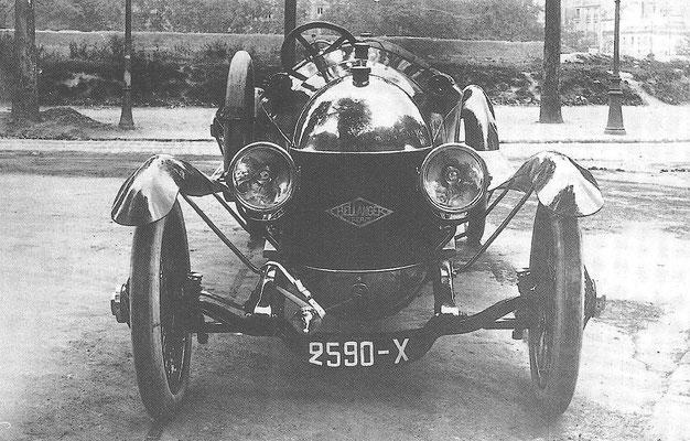 Een Bellanger A1, 6 liter, V8, 50 pk, gebouwd van 1921 tot 1923.