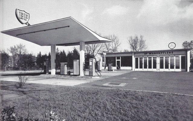 BP tankstation 1954