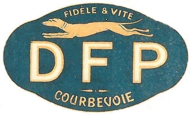 Het vignet op een DFP aandeel.