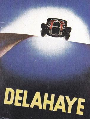 Affiche voor Delahaye ontworpen door Roger Pérot in 1932.