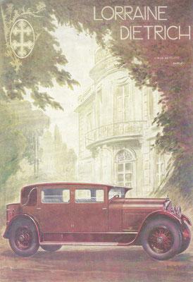 Affiche van Lorraine Dietrich uit 1928.