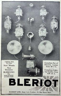 Advertentie Blériot, 1914