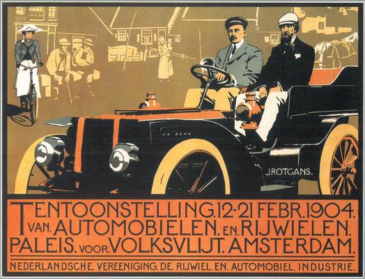Een affiche voor de RAI 1904.