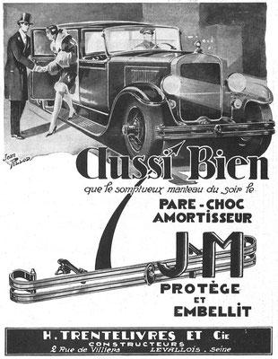 Advertentie van J.M