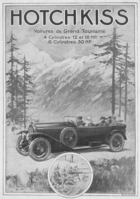 Advertentie Hotchkiss in l'Illustration uit 1922.