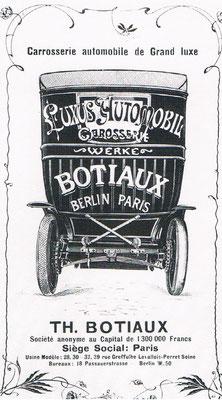 Advertentie Botiaux uit 1906.
