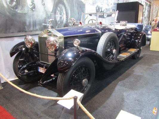Rolls-Royce Phantom I Tourer uit 1926 met een carrosserie van Hooper, ex Maharaja. (Interclassics Brussels 2018)