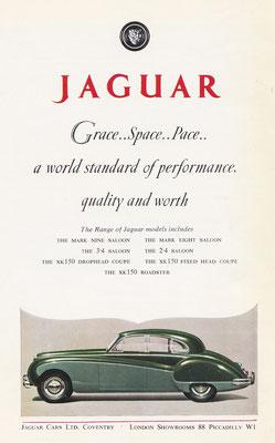 Advertentie Jaguar uit 1959.