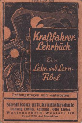 Kraftfahrer Lehrbuch. Uitgegeven vóór 1940.