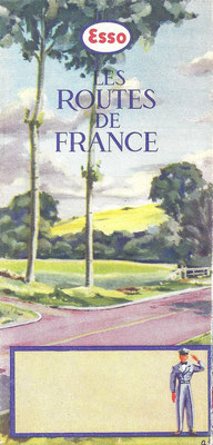 Kaart Esso, Les Routes de France, 1954.