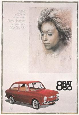 Reclame uit 1964 voor de Fiat 850.