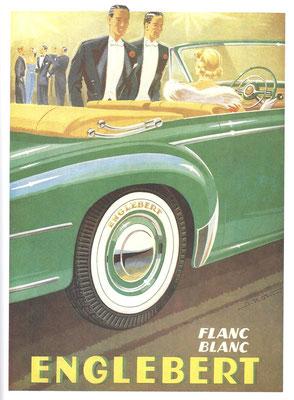 Reclame Engelbert banden uit 1939.