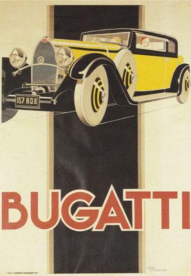 Affiche Bugatti ontworpen door René Vincent.